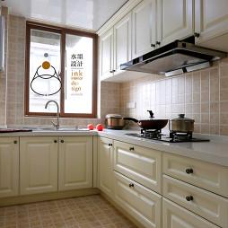 110㎡美式三居厨房装修效果图