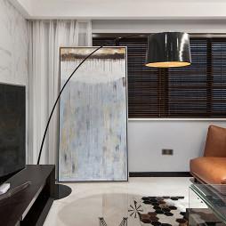 现代时尚客厅吊顶效果图
