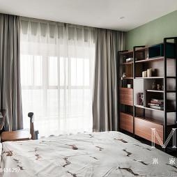 现代时尚卧室博古架设计效果图