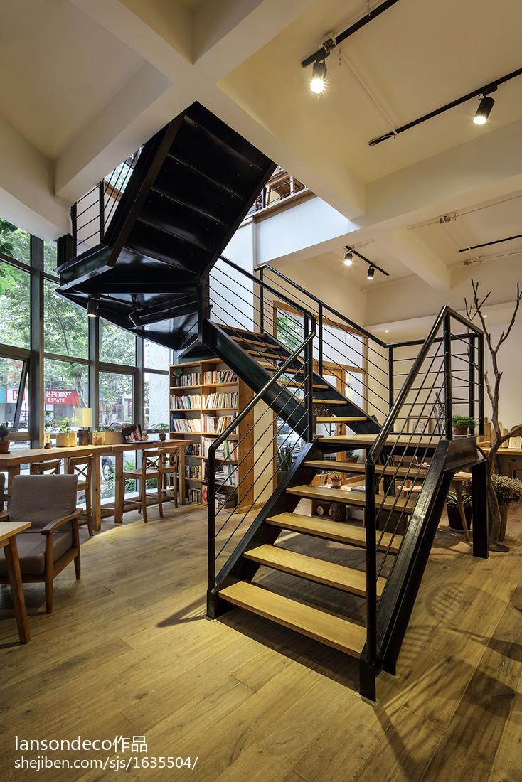 娱乐资讯_咖啡厅楼梯设计效果图 – 设计本装修效果图