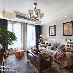 简约美式 客厅设计