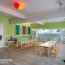 时尚幼儿园课桌设计