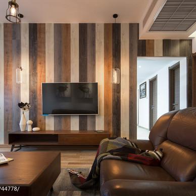 北欧家装设计电视背景墙效果图
