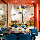 东南亚风火锅店餐桌设计