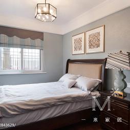 美式风卧室背景墙装修图设计