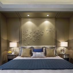 簡約風格家裝臥室背景墻設計