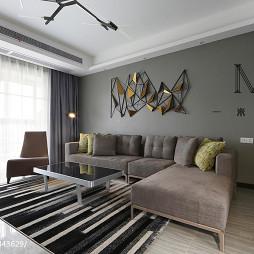 现代简约沙发背景墙装修图