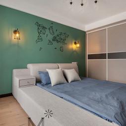 家装现代卧室背景墙装修图
