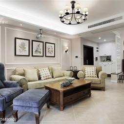 178㎡现代美式客厅设计