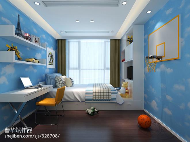 儿童房间榻榻米床装修效果图