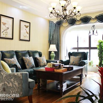 美式时尚客厅效果图设计