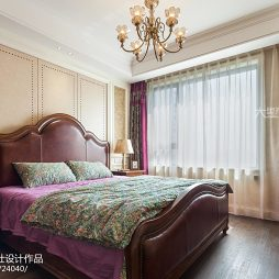 140㎡美式公寓卧室效果图