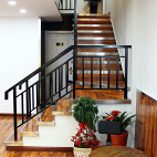 咖啡面包店楼梯设计效果图