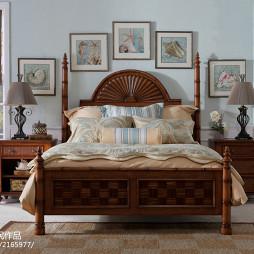 美式风卧室效果图装修设计