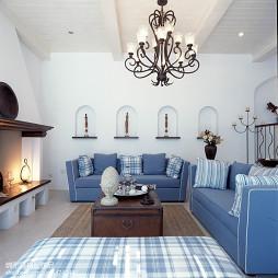 地中海风客厅效果图设计