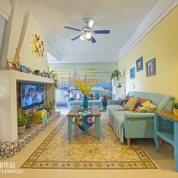地中海家装客厅效果图设计