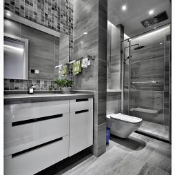现代黑白2017新款浴室柜图片