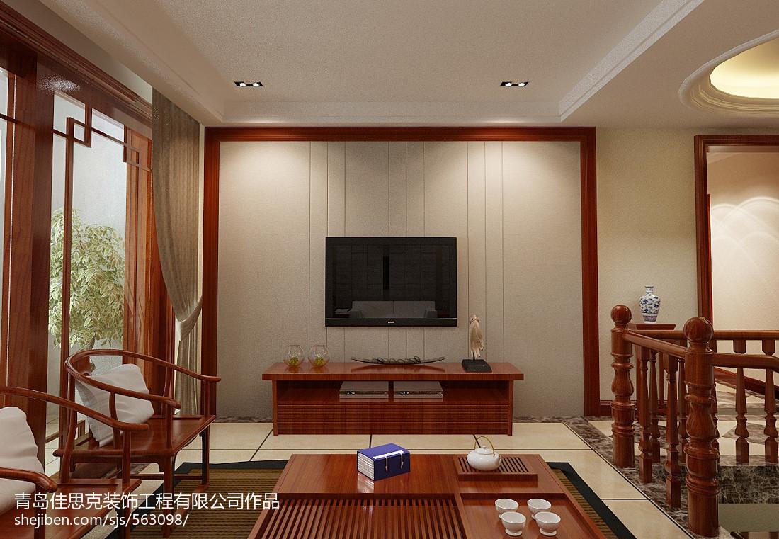 中式电视背景墙效果图_中式电视背景墙的效果图 – 设计本装修效果图