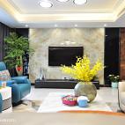时尚现代风电视背景墙效果图