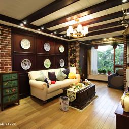 美式别墅客厅沙发