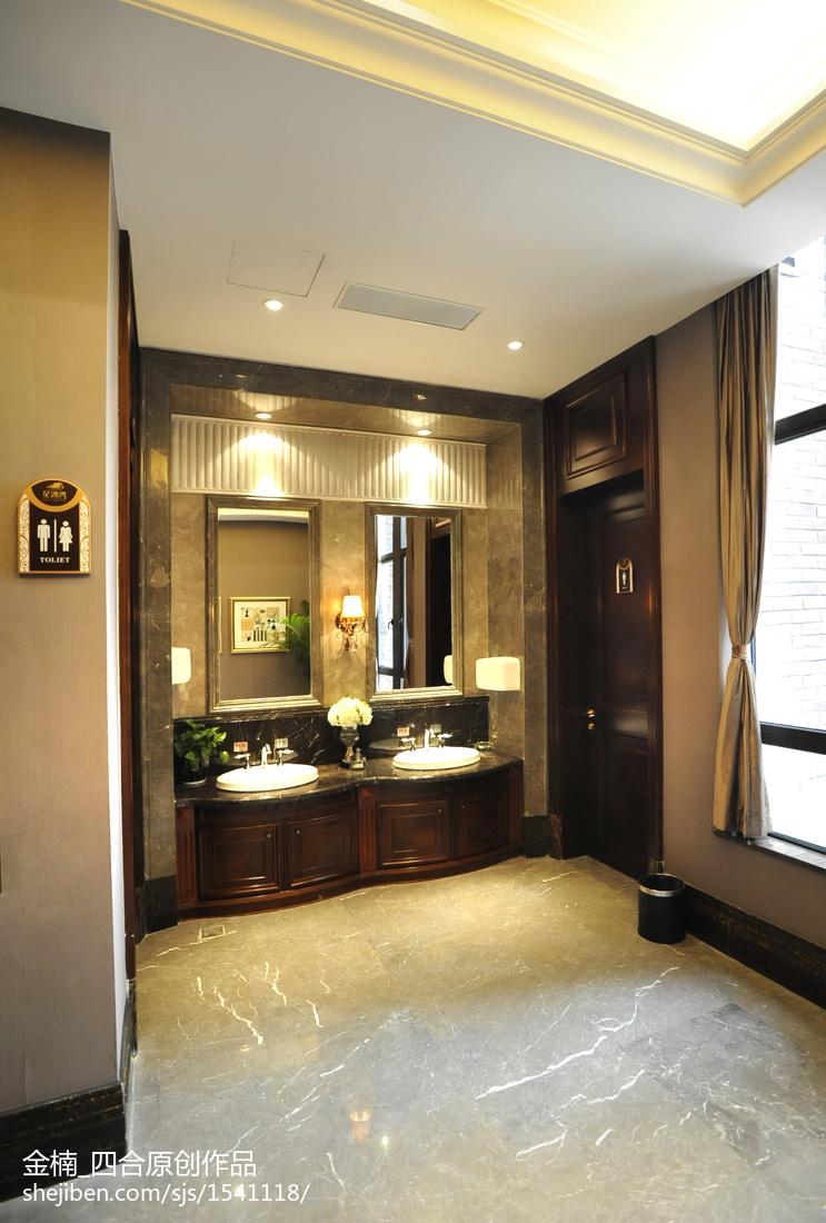 客厅灯池装修效果图_售楼处洗手池装修图片 – 设计本装修效果图