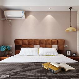 97㎡现代美式卧室背景墙图片