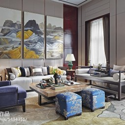 时尚中式格调客厅装修