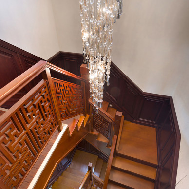 中式木楼梯图片
