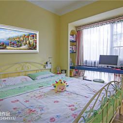 清新地中海卧室设计效果图