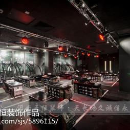 郑州健身房装修公司_斯巴达健身会所设计案例_2290513