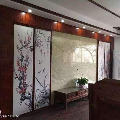 中式客厅字画