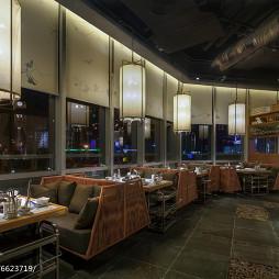 近海蒸鲜餐厅沙发区设计