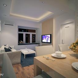 80平米两室一厅现代装修效果图