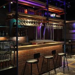 公装现代风情餐厅吧台效果图