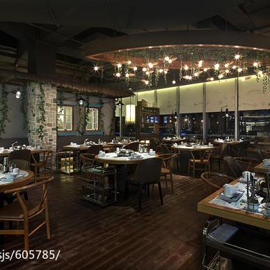公装典雅餐厅布局设计