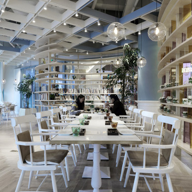 時尚購物商場餐桌設計