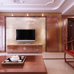 中式电视机背景