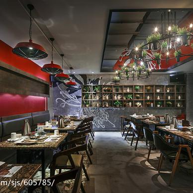 【黄记煌】餐饮空间过道装修