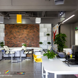 时尚办公空间公共办公区设计