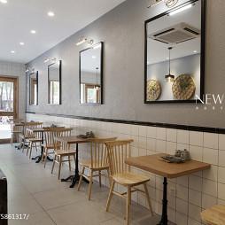 典雅公装餐饮空间墙壁装修设计