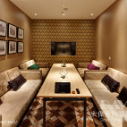 典雅公装咖啡厅包厢设计图