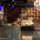 时尚典雅咖啡厅收银台设计