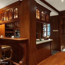 家装美式风格吧台效果图