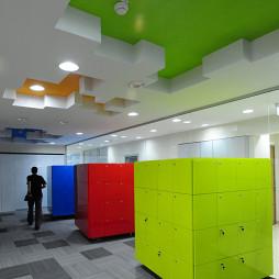 现代年轻化办公空间办公过道设计
