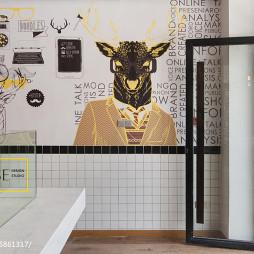 公装时尚快餐店壁纸设计