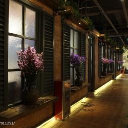 广州时尚餐厅过道设计