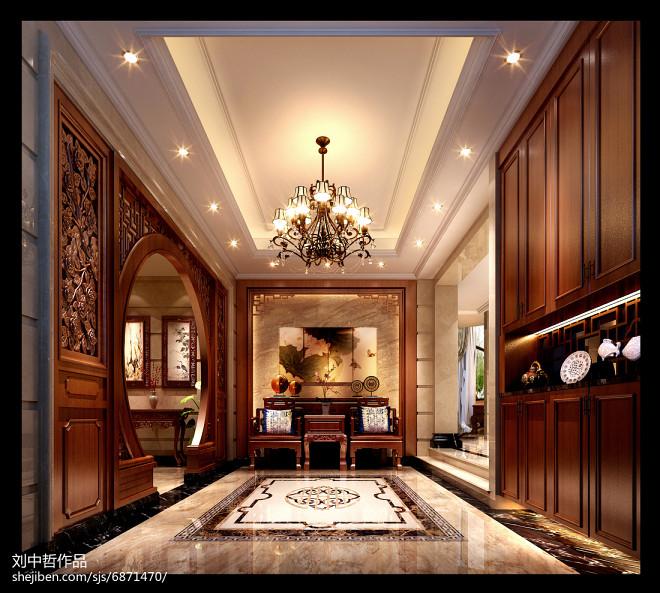 新中式风格中空厅_2347147