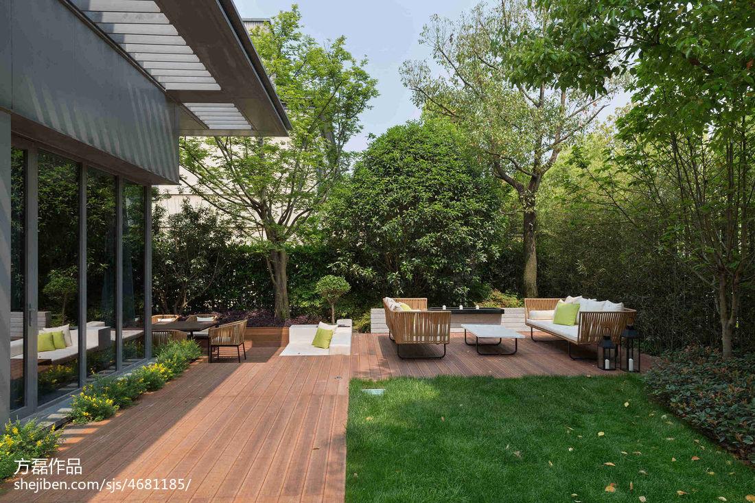 现代别墅庭院景观设计_别墅庭院设计图 – 设计本装修效果图