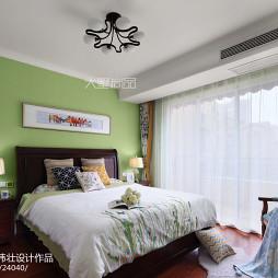 130㎡简约美式风卧室设计