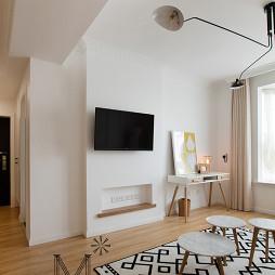北欧风格客厅电视背景墙装饰图